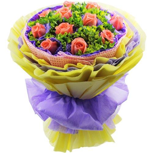 11枝粉玫瑰/甜蜜生活