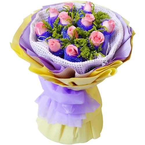 11枝粉玫瑰/至�H至��