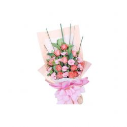 11枝粉玫瑰/愛你