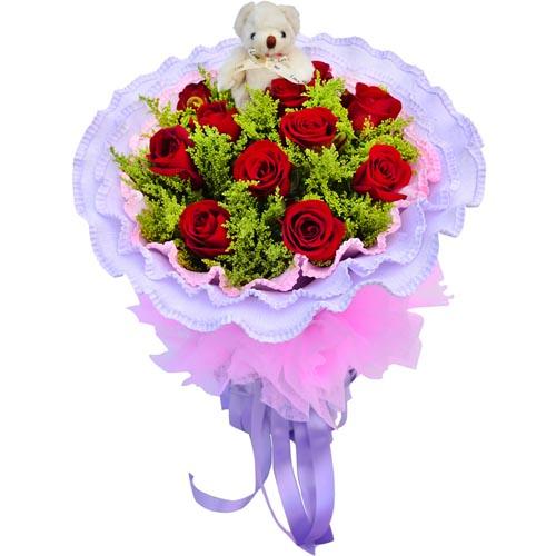 11枝紅玫瑰/愛的心情