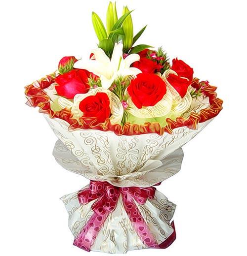 11枝红玫瑰/一心一意的爱