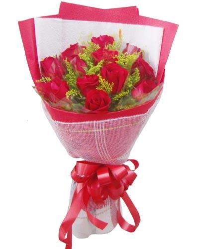 12枝紅玫瑰/一心一意的愛