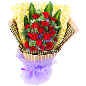 18枝红玫瑰/花香