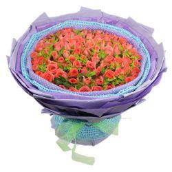 99枝粉玫瑰/为你而梦