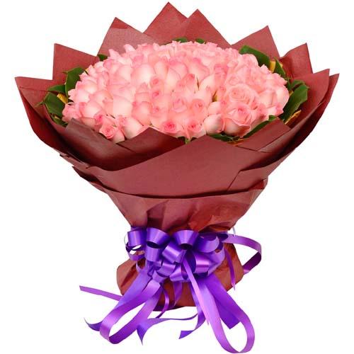 108枝粉玫瑰/你在我心中是最美