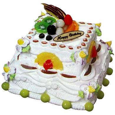 两层方形蛋糕/温馨港湾