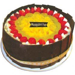 圆形鲜奶水果蛋糕/快乐之家(8寸)