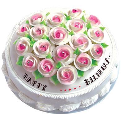 圆形鲜奶蛋糕/幸福花开(8寸)
