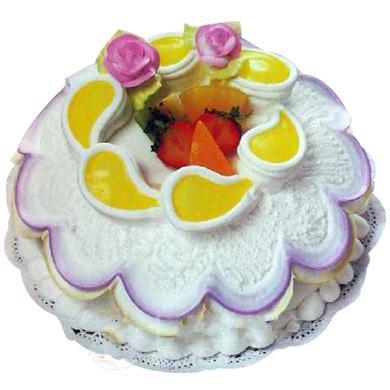 冰淇淋蛋糕/水果鲜花(8寸)