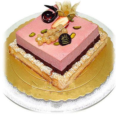 方形2層鮮奶蛋糕/糕朋滿座