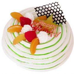 圆形鲜奶水果蛋糕/鲜果盘(8寸)
