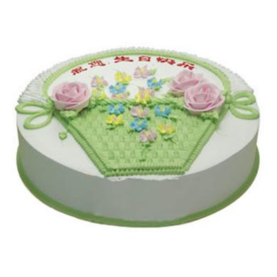 圆形鲜奶蛋糕/春天的故事(8寸)