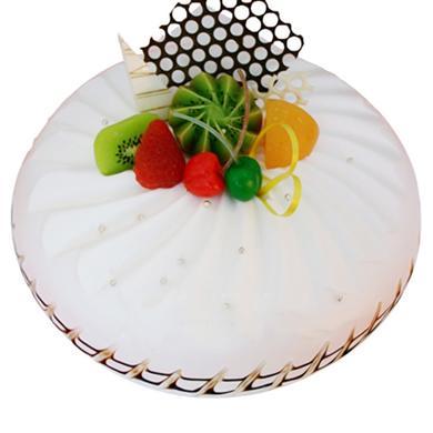 圓形鮮奶水果蛋糕/純真年代(8寸)