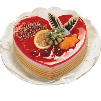 鲜奶水果蛋糕(心型)/心怡(8寸)