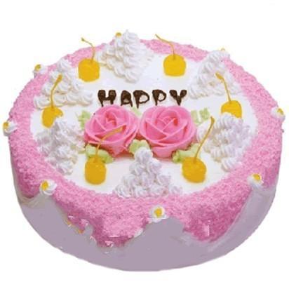 圆形鲜奶蛋糕/象牙塔(8寸)