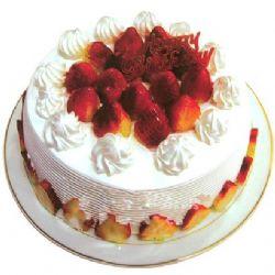 圆形鲜奶水果蛋糕/草莓之恋(8寸)