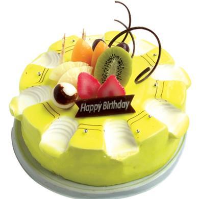 圓形鮮奶水果蛋糕/開心每一天(8寸)
