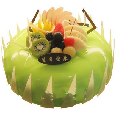圆形水果蛋糕/绿色情怀(8寸)