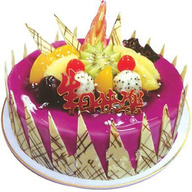 圓形鮮奶水果蛋糕/奇思妙想(8寸)