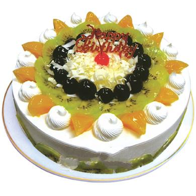 圆形鲜奶水果蛋糕/幸福家园(8寸)