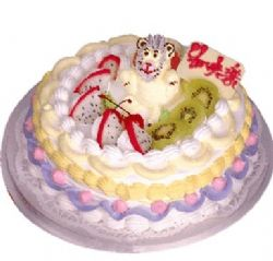 植物鲜奶蛋糕/天资娇美(8寸)
