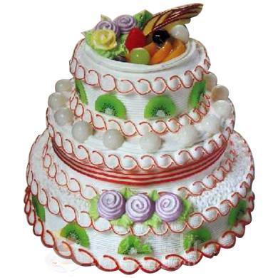 三层圆形蛋糕/我心飞翔