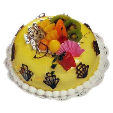 圓形鮮奶水果蛋糕/檸檬之戀(8寸)