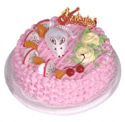 植物�r奶蛋糕/�小慎微(8寸)