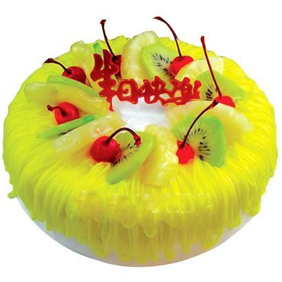 圓形鮮奶水果蛋糕/月光(8寸)