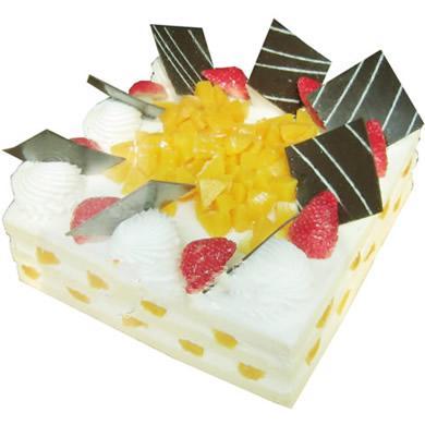 方形鮮奶水果蛋糕/快樂無限(8寸)