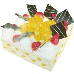 方形鲜奶水果蛋糕/快乐无限(8寸)