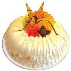 圆形鲜奶水果蛋糕/冬日恋歌(8寸)