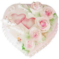 心形鲜奶蛋糕/花之语(8寸)