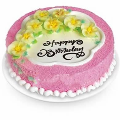 圓形鮮奶蛋糕/迎春花開(8寸)