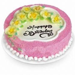 圆形鲜奶蛋糕/迎春花开(8寸)