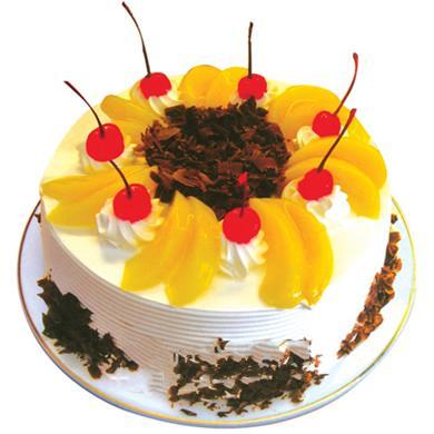 圆形鲜奶水果蛋糕/欢乐假日(8寸)