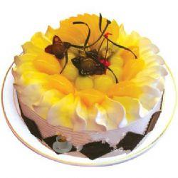 圆形鲜奶水果蛋糕/盛夏的果实(8寸)