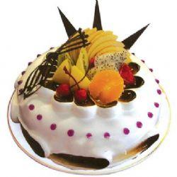 圆形鲜奶水果蛋糕/自由(8寸)