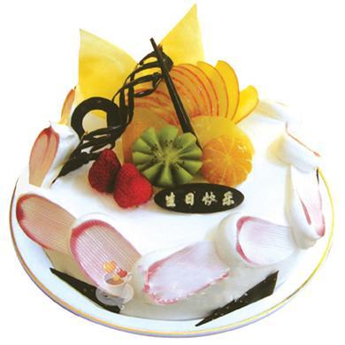 圓形鮮奶水果蛋糕/臘盡春回(8寸)