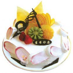 圆形鲜奶水果蛋糕/腊尽春回(8寸)