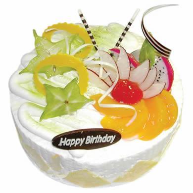 圆形鲜奶水果蛋糕/清凉一夏(8寸)