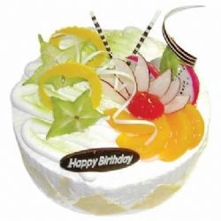 �A形�r奶水果蛋糕/清�鲆幌�(8寸)