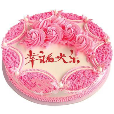 圆形鲜奶蛋糕/玫瑰情怀(8寸)