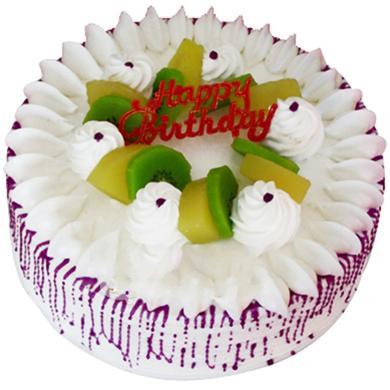 圓形鮮奶水果蛋糕/歡聚(8寸)