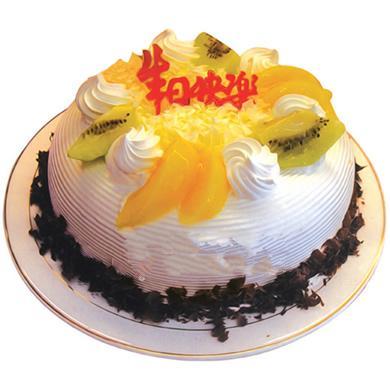 圓形鮮奶水果蛋糕/甜蜜時光(8寸)