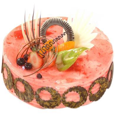 圆形慕斯蛋糕/红色伊人(8寸)