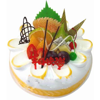 圓形鮮奶水果蛋糕/斜陽(8寸)