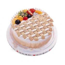 圆形水果鲜奶蛋糕/缠绵话语(8寸)