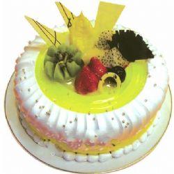 圆形鲜奶水果蛋糕/美丽人生(8寸)
