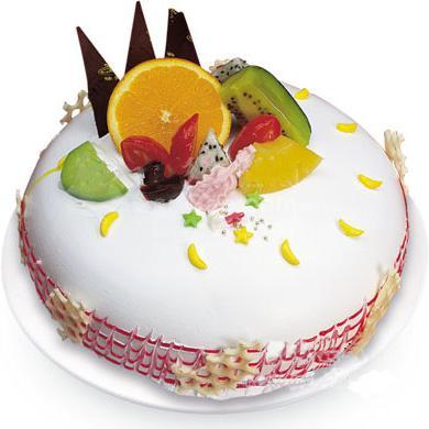 圆形鲜奶水果蛋糕/激情无限(8寸)